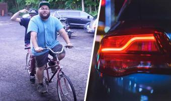 Блогеры преисполнились и создали машину-велосипед. Если бы Печкин и Маск женились, их ребёнок выглядел бы так
