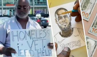 Бездомный художник за день стал миллионером. Его ключ к успеху — попросить милостыню у нужного незнакомца