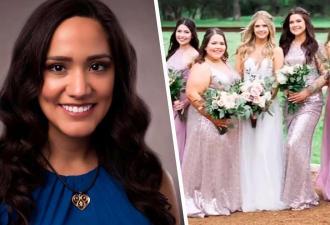Гостья хотела быть самой красивой на свадьбе, но получился фейл. Её наряд — повод не для гордости, а для стыда