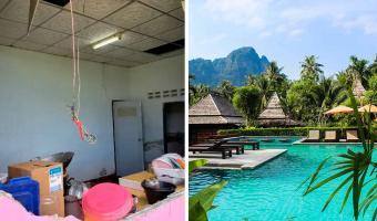 В Таиланде семья не рада гостю. Кто-нибудь, объясните слону, что вход в дом — через дверь, а не стены