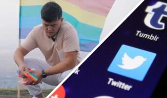 Казахский блогер сжёг флаг ЛГБТ и поп-иты. Он показал, что в стране нет места гомосексуалам