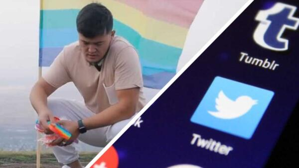 Казахский блогер сжёг флаг ЛГБТ и поп иты. Так он показал, что в стране нет места пропаганде