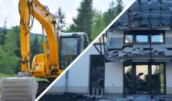 Подрядчик в Германии экскаватором разрушил часть дома из-за задержки оплаты