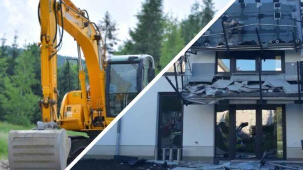 Строитель в Германии разрушил дом из-за невыплаченной суммы по проекту