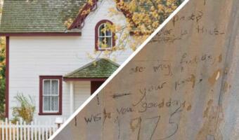 Семья нашла дома под обоями стих — послание в будущее из 1975 года и отыскала его авторшу
