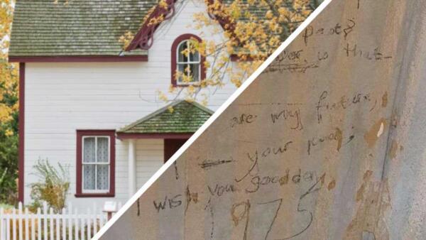 Семья обнаружила стих из1975 года на стене под обоями и нашла его автора