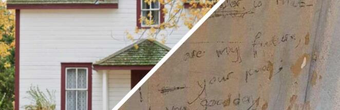 Семья нашла дома под обоями стих — послание в будущее от 1975 года и отыскала его авторшу