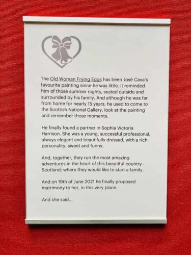 Парень хотел сделать предложение девушке в музее и заменил аннотацию картины своим письмом