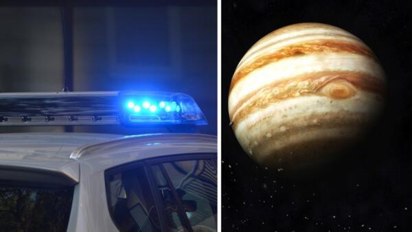 Полицейская из Глазго думала, что её преследует дрон, а это оказался Юпитер