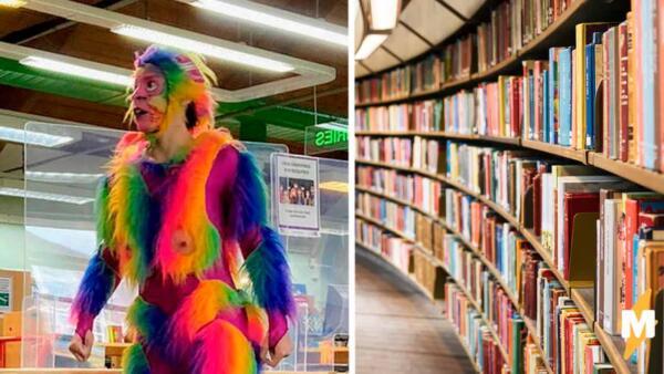 """""""Радужная обезьяна"""" испортила детям праздник. Родители в гневе, а библиотека Лондона извиняется"""