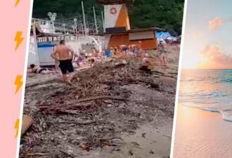 Фото туристов с пляжей Чёрного моря выглядят как шаблон мема. На них дзен посреди хаоса
