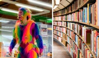 Актёр в костюме радужной обезьяны испортил детский праздник в библиотеке Лондона