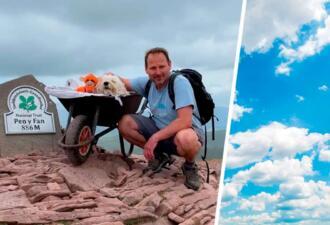 Хозяин поднял умирающего пса на вершину его любимой горы. Мы не плачем, это вы плачете