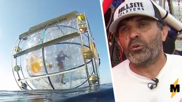 Спортсмен плыл в Нью-Йорк в огромном гидропузыре, похожем на колесо для хомяка