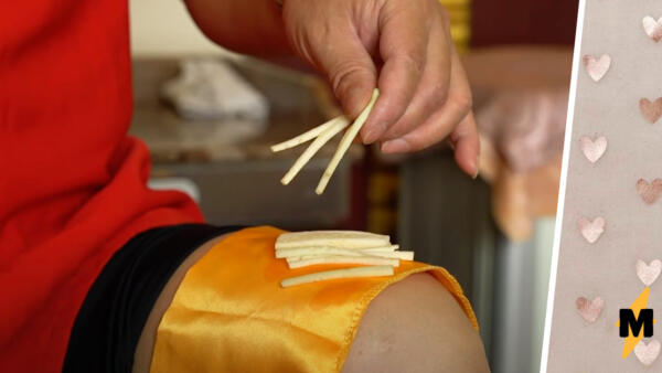 Повар готовит на коленке (буквально). После видео с его кухни вы откажитесь от похода в кафе даже с QR-кодом