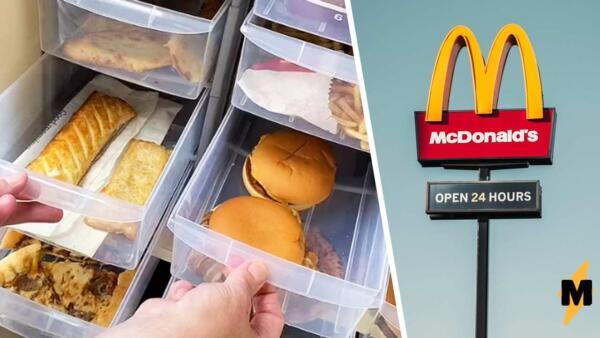 Женщина на видео два года хранила еду из МакДональдса и доказала, что вредная еда не портится