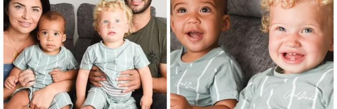 Жительница Англии родила близнецов с разным цветом волос, глаз и кожи
