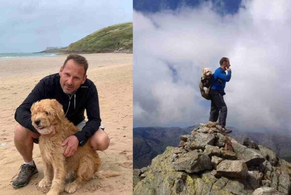 Хозяин взял умирающего пса на его любимую гору в последний путь. Готовьте носовые платочки
