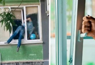 Житель Херсона застрял в окне, пытаясь попасть в дом к бывшей сожительнице