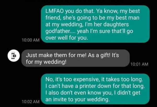 Невеста заказала у незнакомца тачки, но удивилась, что за них надо заплатить. Ох, уж эти свадебные хлопоты
