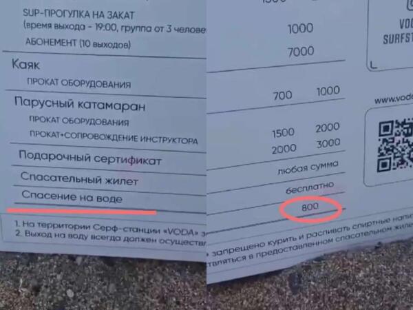 """""""Ну так вот написали"""" - сотрудники VIP-пляжа в Сочи объяснили, что спасают всех бесплатно"""