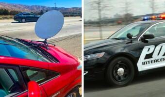 Водитель установил антенну на авто, чтобы в поездках получать Wi-Fi от Starlink. Он назвал это лайфхаком