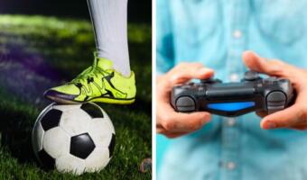 Фанат включил футбольный матч и рассмешил дочь. Целый тайм он смотрел стрим по Pro Evolution Soccer
