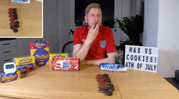Сколько печений способен съесть человек? В ютубера влезло двести