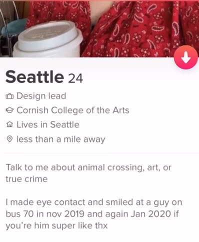 Девушка отыскала в тиндере парня, который просто посмотрел на неё два года назад