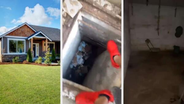 Риелтор снял подвал дома на видео. Цепи и стулья внутри будто готовы к съёмкам хоррора