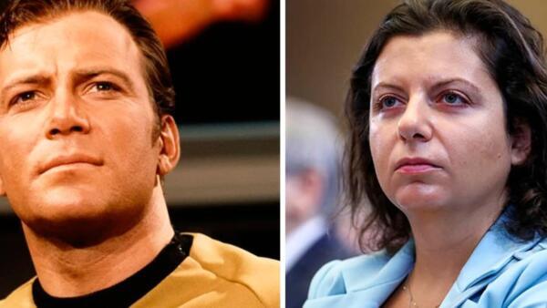 Маргарита Симоньян рада - на RT работает Капитан Кирк. Почему Уильям Шетнер говорит, что не знает эту женщину?