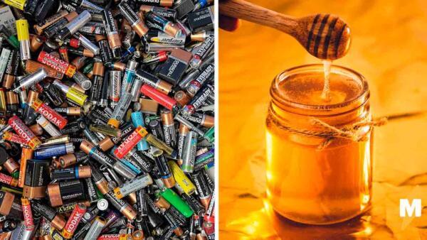 Почему мёд может спасти ребёнка, если он проглотил батарейку? Мама провела опыт с колбасой