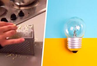 Блогерша показала, как нужно пользоваться тёркой. Если положить её на бок, тарелка не нужна