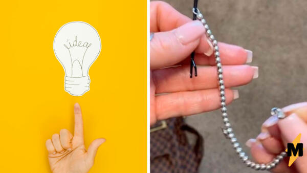 Модница показала, как надеть браслет на руку за секунду. Нужна лишь шпилька для волос