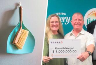 Хозяин убирался дома и нашёл счастливый лотерейный билет. Вот он, порядок на миллион долларов