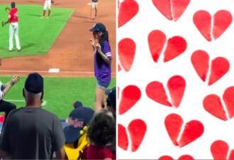 Бойфренд на видео сделал предложение девушке, а та убежала на глазах у толпы болельщиков