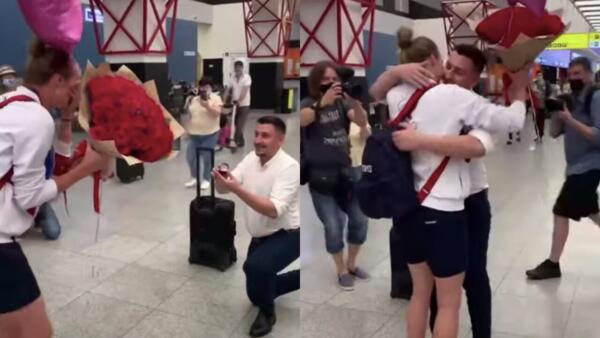 Баскетболистка получила предложение руки и сердца в Шереметьево после Олимпиады