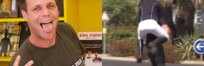 Комик Реми Гайяр снял пародию на Олимпиаду, где едет на незнакомце, как на коне