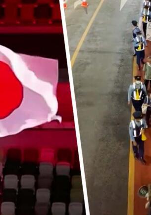 Японцы вышли на протесты против Олимпийских игр во время церемонии открытия