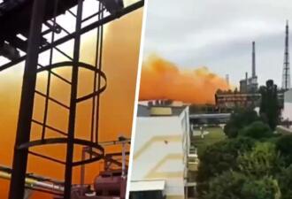 Жители Ровно сняли на видео рыжее облако, появившееся после аварии на химзаводе