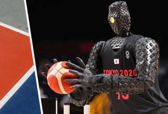На Олимпиаде-2020 робот-баскетболист забросил штрафной в перерыве матча
