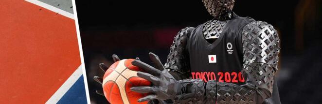 На токийской Олимпиаде робот-баскетболист забросил штрафной в перерыве матча