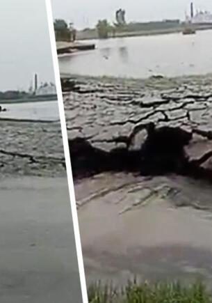 «Земля поднимается» — жители Индии сняли на видео странное явление