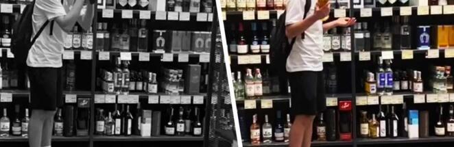 Парень разбил в магазине «виски за $7500», но поступок оказался постановкой