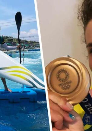Олимпийская чемпионка по гребному слалому починила каяк с помощью презерватива