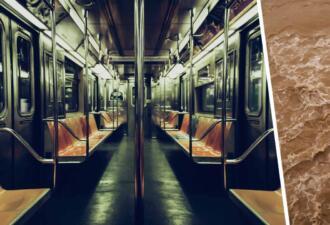 Пассажиры застряли в затопленном вагоне метро и сняли видео
