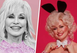Певица Долли Партон в 75 лет повторила обложку журнала Playboy 1987 года