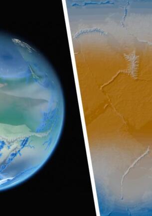 Программист на видео показал четыре миллиарда лет развития Земли