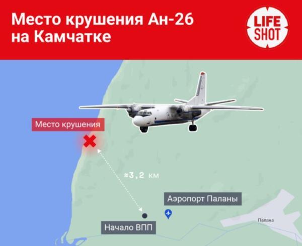 Что известно о крушении самолёта Ан-26 на Камчатке. Выживших нет, а версий ЧП — три