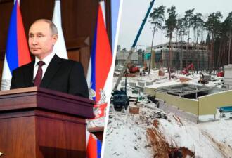 Рядом с резиденцией Владимира Путина идёт стройка стоимостью в миллиарды рублей